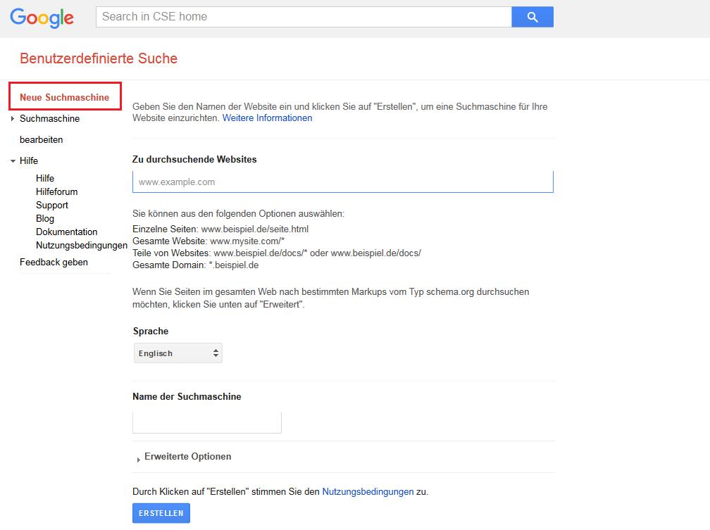 google-custom-search-website