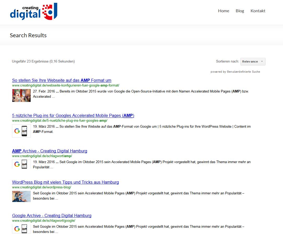 google suche onpage ergebnis
