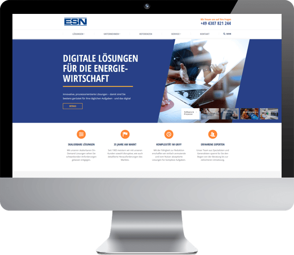 Website Relaunch ESN durch Creating Digital Hamburg