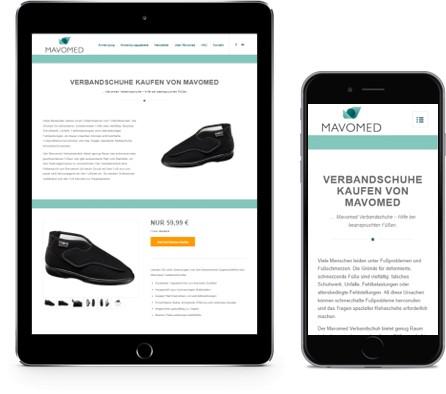 Website Umsetzung WordPress Mavomed