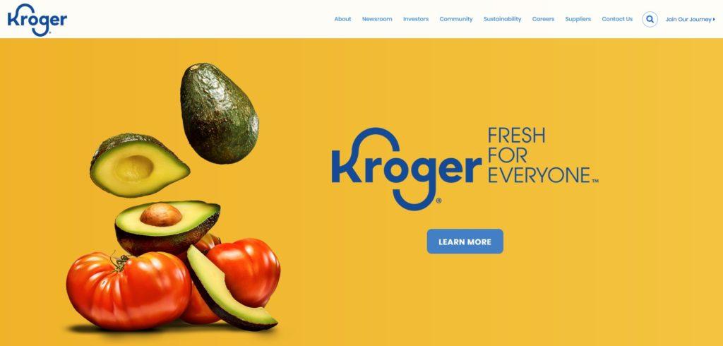 Kroger Unternehmenswebsite