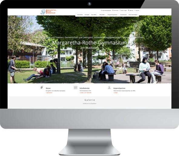 Website Betreuung Margaretha-Rothe-Gymnasium