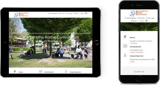 MGR mobile Website
