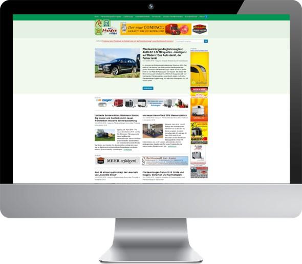 Alte Website Pferde Portal