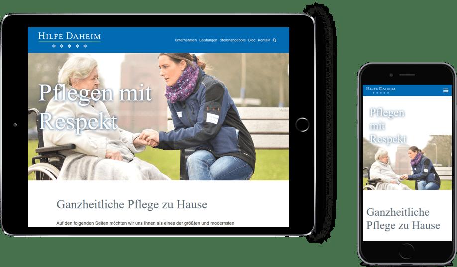 Hilfe Daheim mobile Website