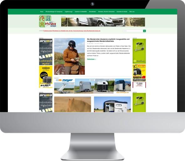 Website Umsetzung Pferde-Portal