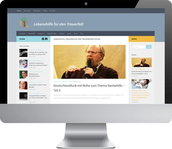 Umsetzung des Blogs Mit Trauer Leben