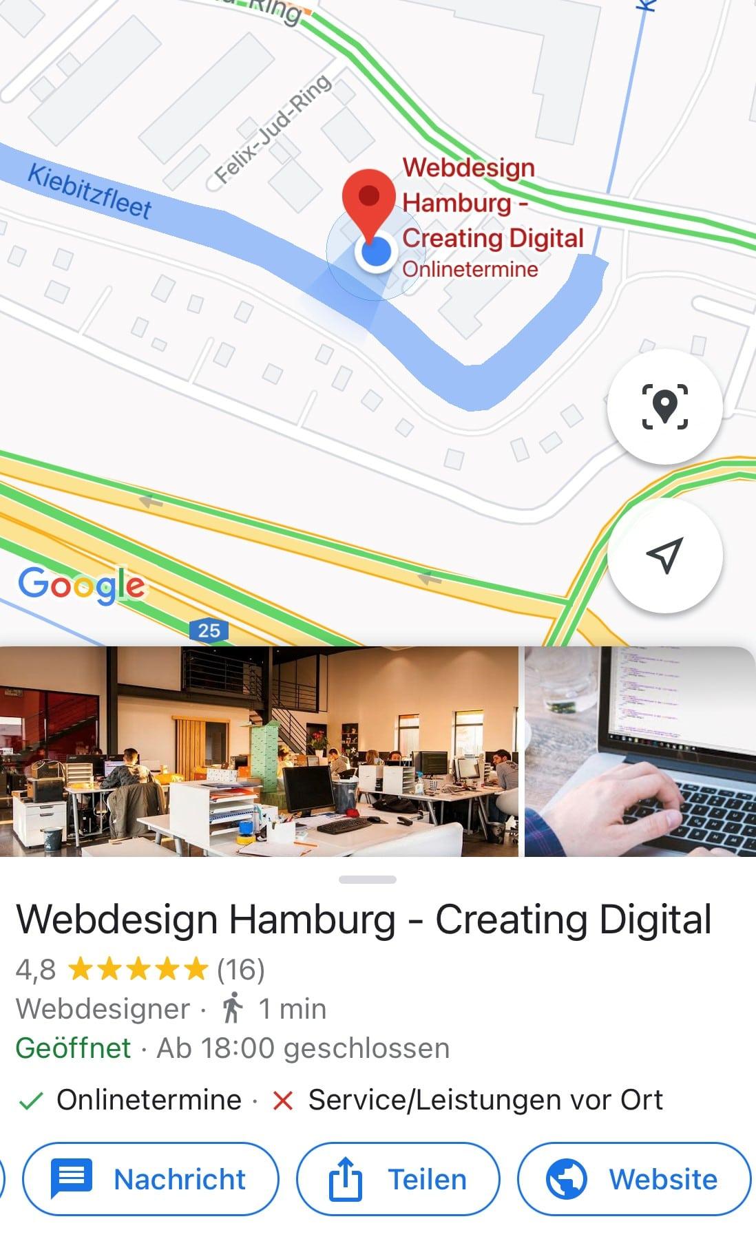 Google My Business Nachrichten Funktion