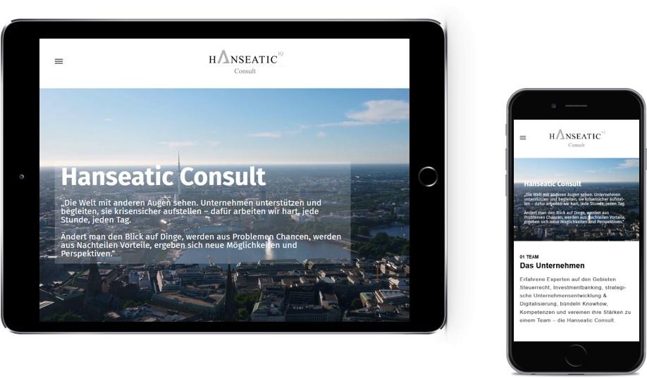 Website Hanseatic Consult mobile